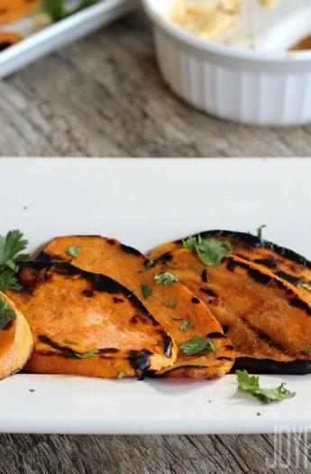 Grilled Sweet Potatoes #grillrecipes #heatlhysidedishes #sweetpotato