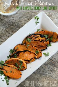 Image of Grilled Sweet Potatoes with Chipotle Honey Lime Butter