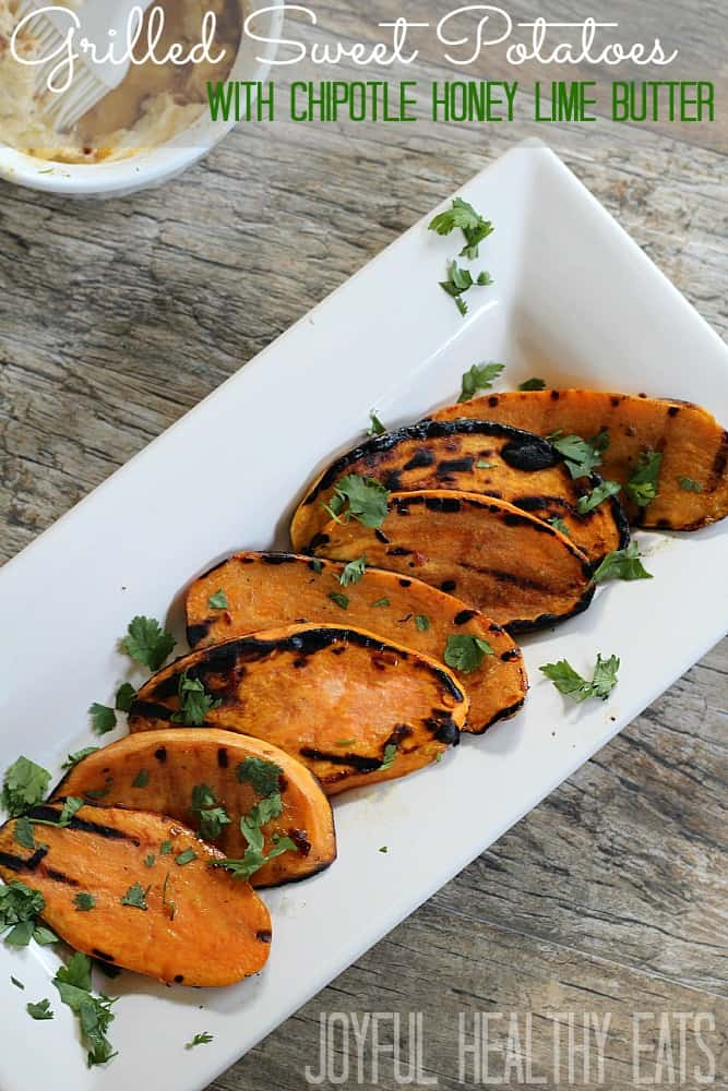 Grilled Sweet Potatoes #heatlhysidedishes #sweetpotatoes #grillrecipes