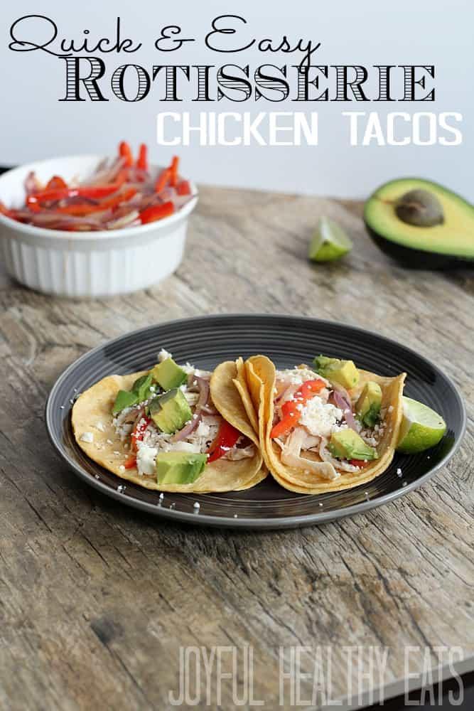 Rotisserie Chicken Tacos #chickentacos #easymeals #rotisseriechicken