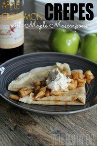 Image of Apple Cinnamon Crepes with Maple Mascarpone