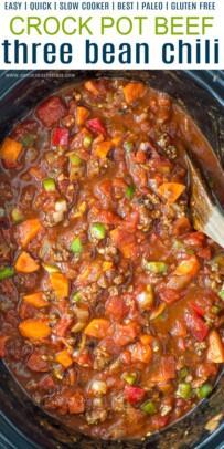 pinterest collage for crock pot three bean chili