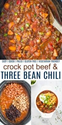pinterst collage for crock pot three bean chili