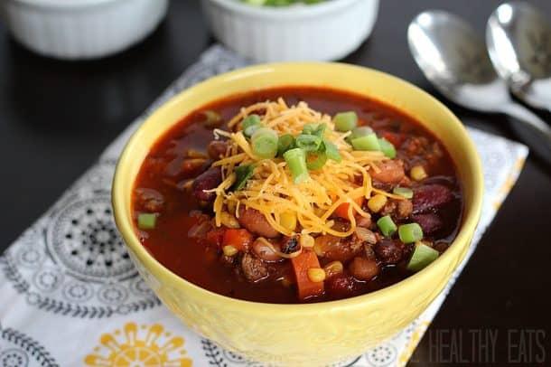 Crock Pot Chili #chilirecipe #3beanchili #crockpot