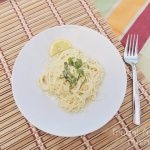 Easy Garlic Lemon Pasta for two