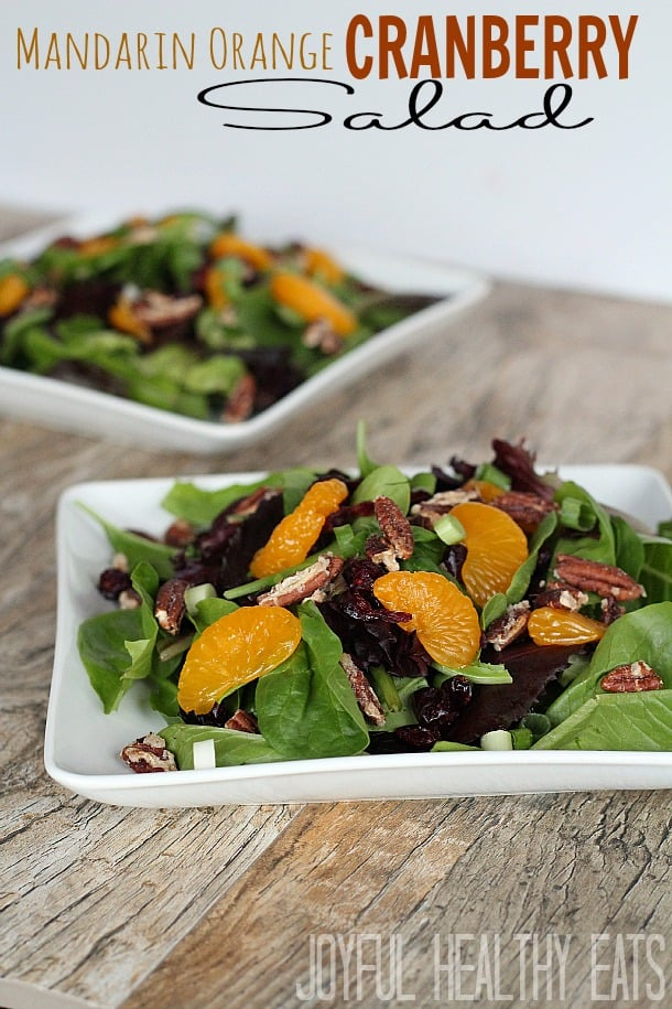 Mandarin Orange Cranberry Salad #saladrecipe #mandarinorange #fallrecipes