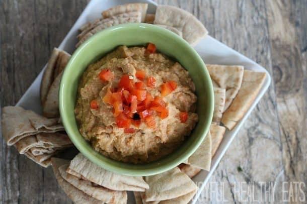 Roasted Red Pepper Hummus | Easy Homemade Hummus Recipe