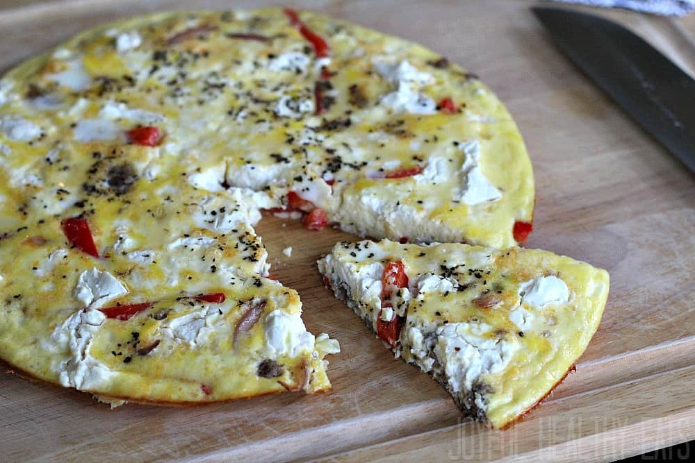 Sausage, Pepper, & Onion Frittata #frittata #breakfastrecipe