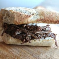 Real Men Cook: Crock Pot Shredded Beef Sandwiches with Horseradish Aioli