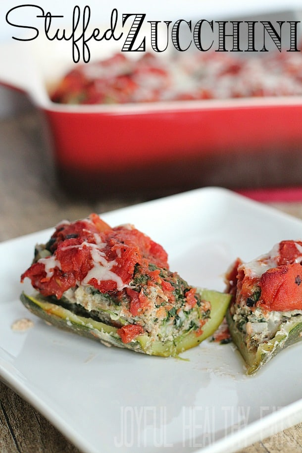 Stuffed Zucchini Boats #zucchini #entree #stuffedzucchini