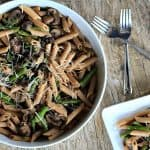 Asparagus Mushroom Pasta with Goat Cheese Sauce