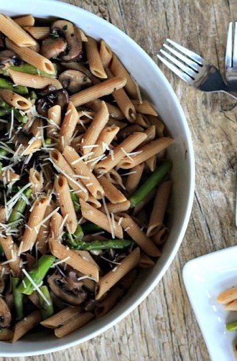 Asparagus & Mushroom Pasta 3