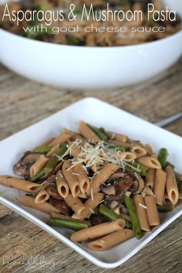 Asparagus Mushroom Pasta 4