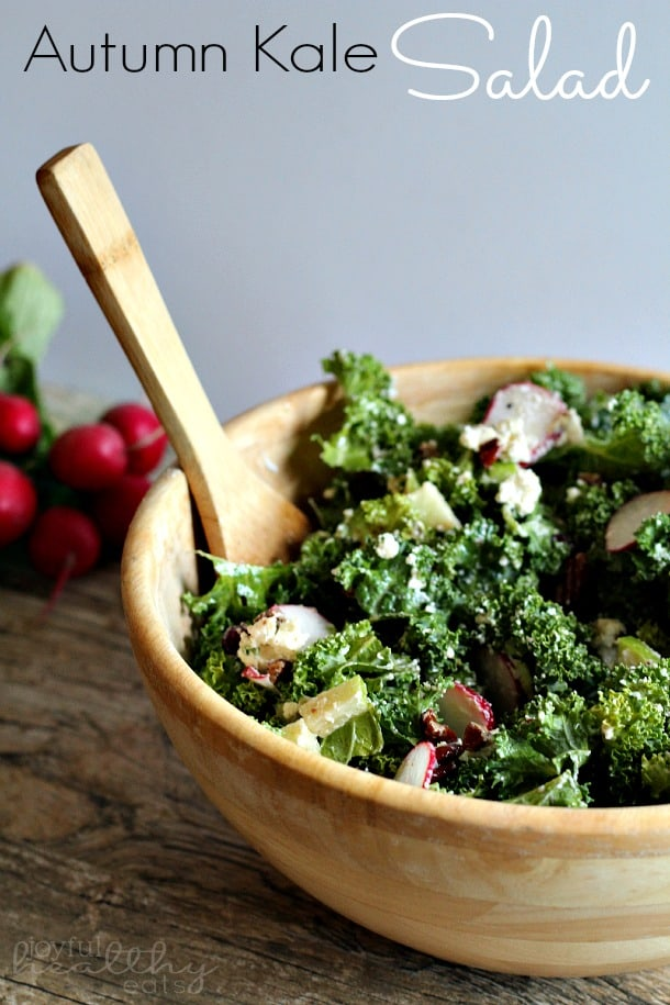 Autumn Kale Salad #kalerecipes #autumn #kale #saladrecipes