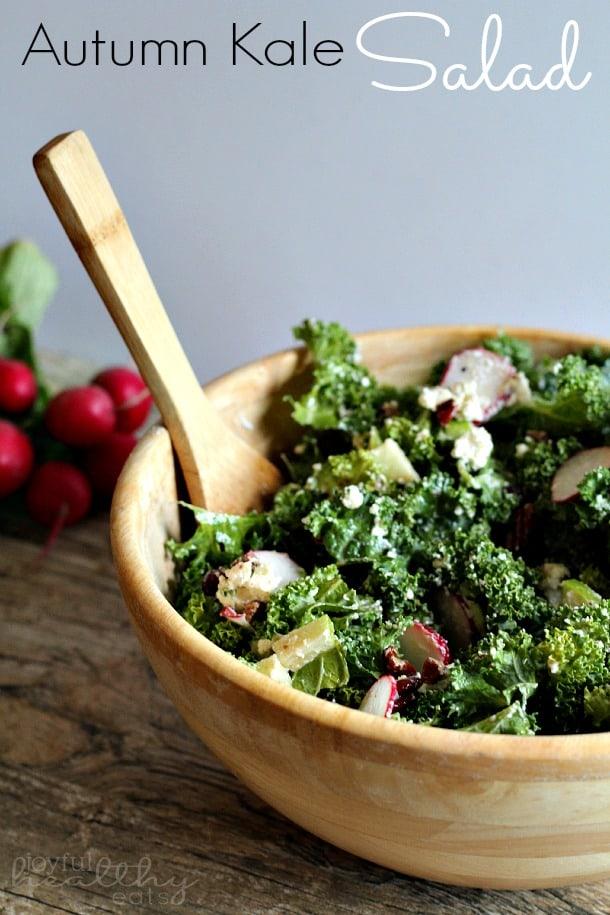Autumn Kale Salad #kalerecipes #autumn #kale #saladrecipes
