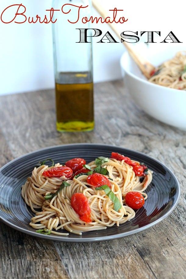 Burst Tomato Pasta #pasta #recipe #freshtomato #tomatobasilpasta