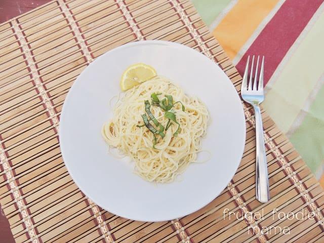 Image of Light & Easy Garlic Lemon Pasta For Two