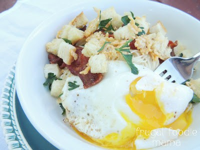 Image of Bacon & Egg Angel Hair Pasta