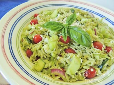 Image of an Italian Basil Orzo Salad