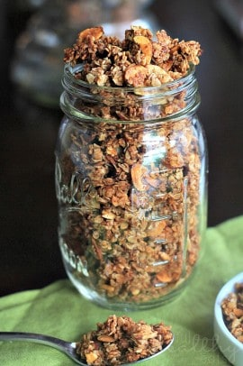 Homemade Almond Vanilla Granola 6