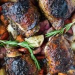 One Pan Mustard Balsamic Baked Chicken with Roasted Vegetables - web-5