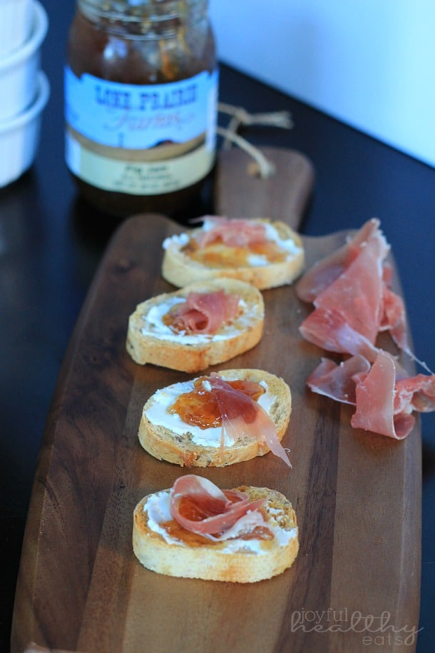 Proscuitto Fig Goat Cheese Crostini 2