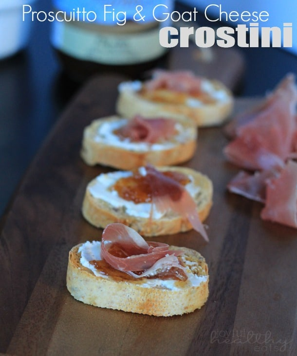 Proscuitto Fig Goat Cheese Crostini 4