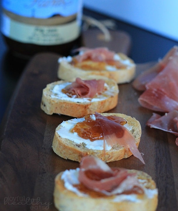Proscuitto Fig Goat Cheese Crostini 5