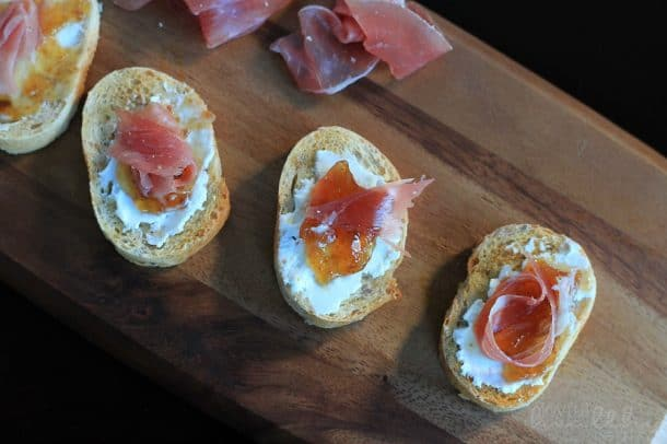 Proscuitto Fig Goat Cheese Crostini 6