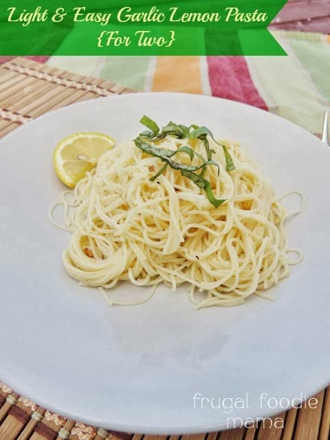 Image of a Light & Easy Garlic Lemon Spaghetti Dish For Two