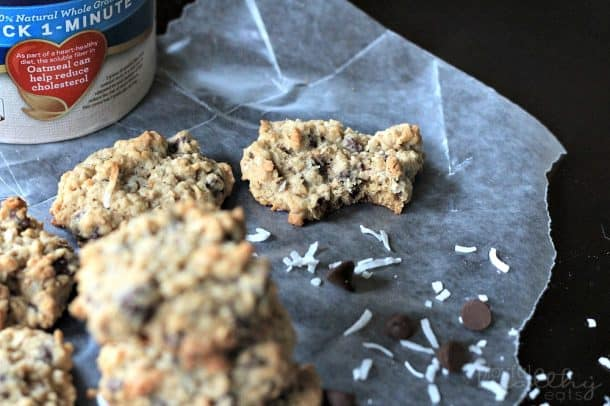 Coconut Oatmeal Chocolate Chip Cookies 1