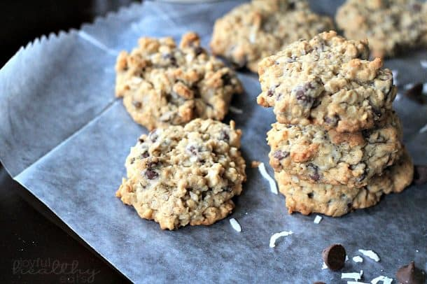 Coconut Oatmeal Chocolate Chip Cookies 2