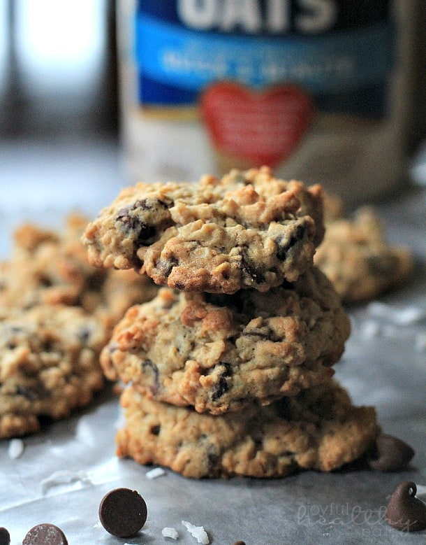 Coconut Oatmeal Chocolate Chip Cookies 5