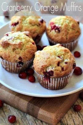 Cranberry Orange Muffins #cranberry #muffins #breakfast #orange #holiday
