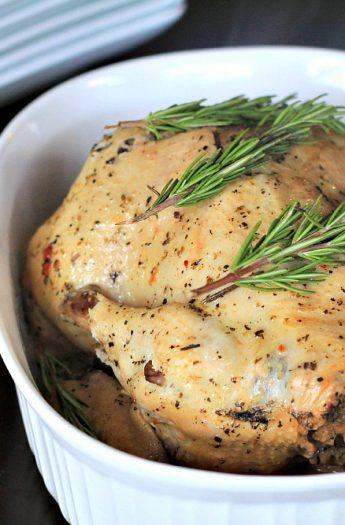 Garlic Herb Crock Pot Chicken #crockpot #chicken #garlic #recipes