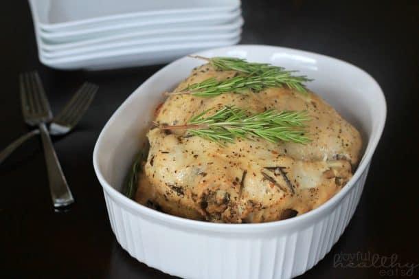 Garlic Herb Crock Pot Chicken 4