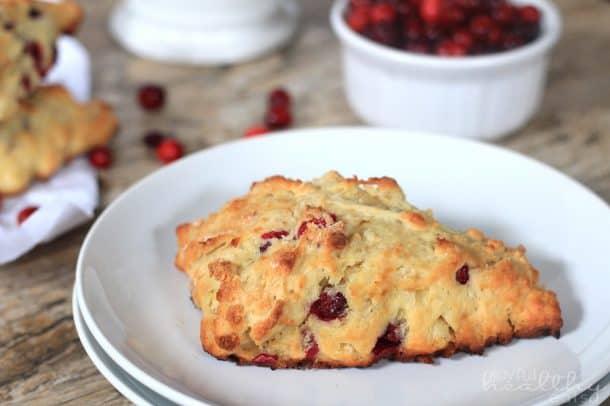 Cranberry Orange Scones #cranberry #orange #scones #breakfast #wholewheat