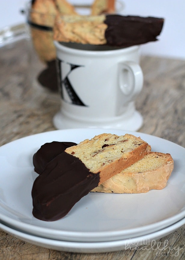 Dark Chocolate Almond Biscotti 4