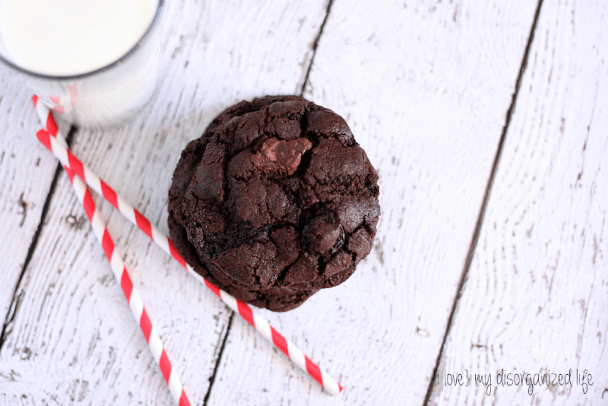 A stack of Dark Chocolate Cherry Cookies