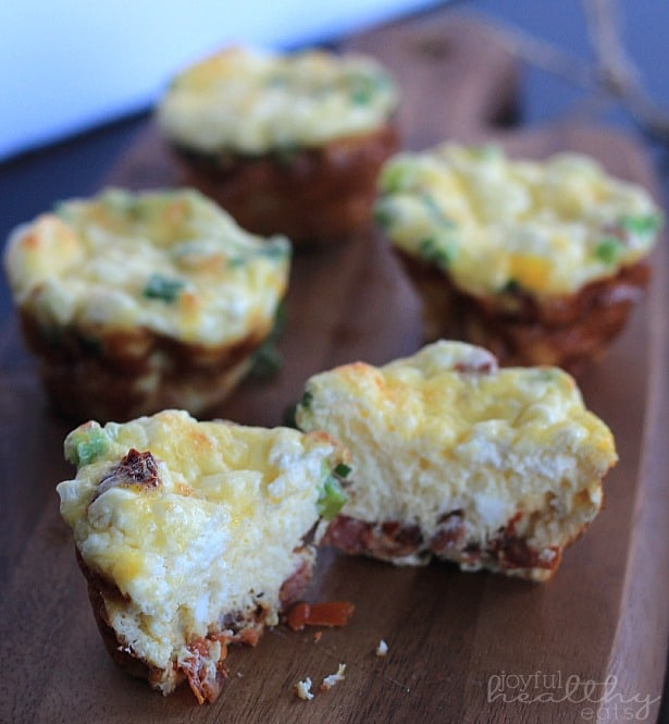 Mini Pancetta Goat Cheese Frittatas 5