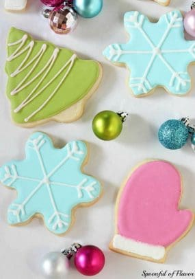 Winter-themed sugar cookies with royal icing