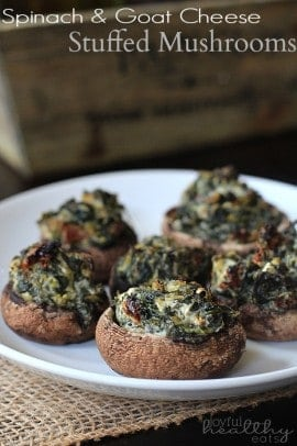 Spinach & Goat Cheese Stuffed Mushrooms 2