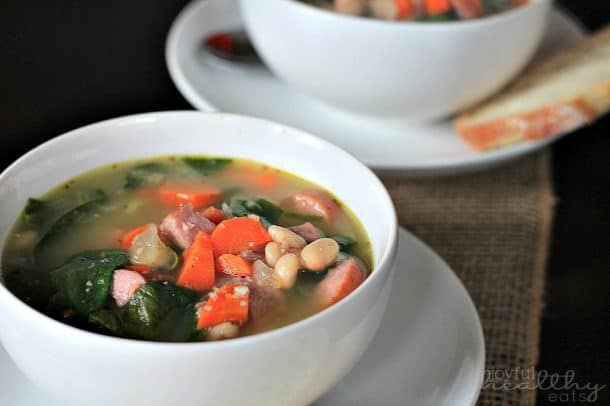 White Bean Soup with Sausage & Spinach 5