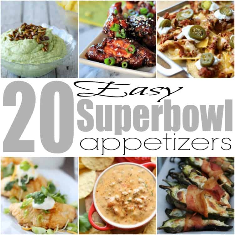 20 Easy Superbowl Etizers Starters Wings Dips Nachos