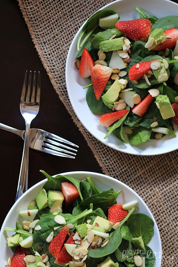 Avocado Strawberry Spinach Salad 5