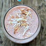Coconut Strawberry Banana Smoothie #smoothie #dairyfree #coconutmilk #banana #strawberry #sugarfree