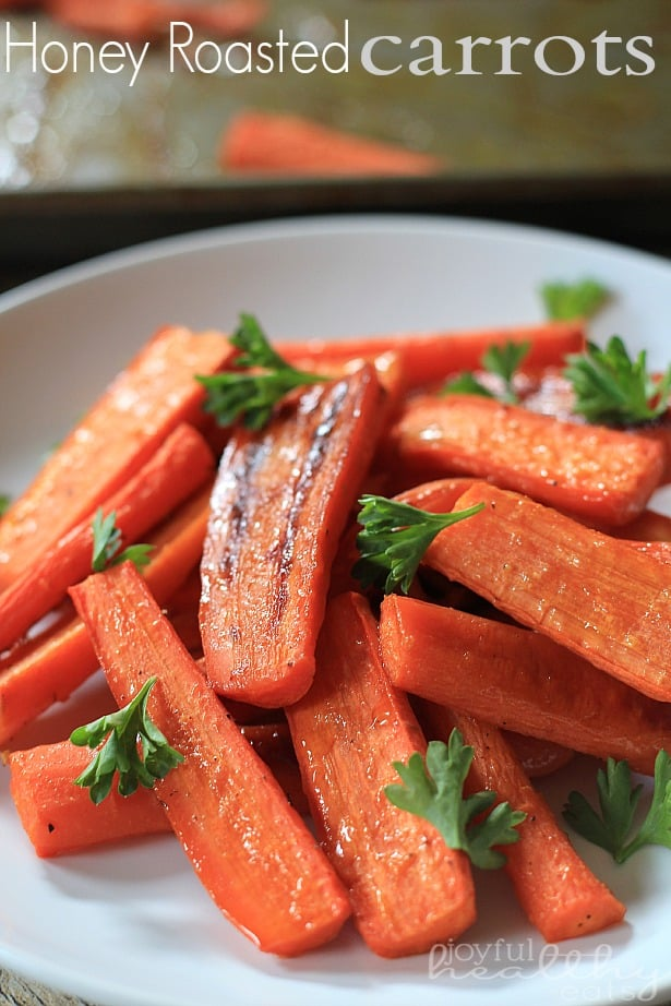 Honey Roasted Carrots #paleo #cleaneating #carrots #sidedishes #vegetables