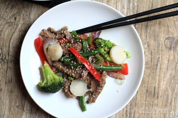 Steak and Vegetable Stir fry Paleo 3
