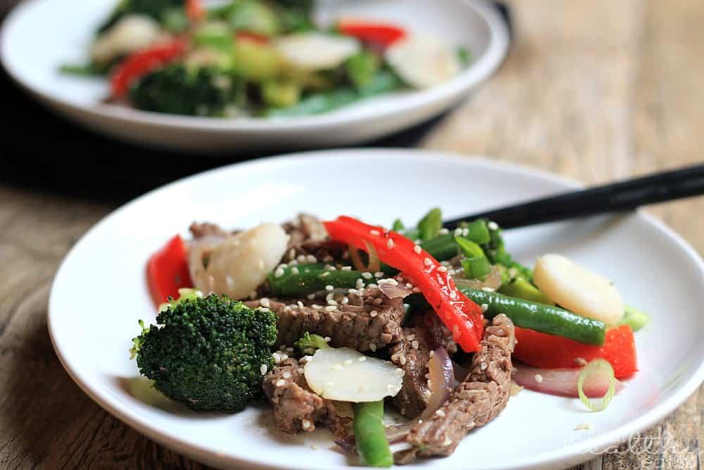 Steak and Vegetable Stir fry #Paleo #cleaneating #steak #vegetable #asianfood