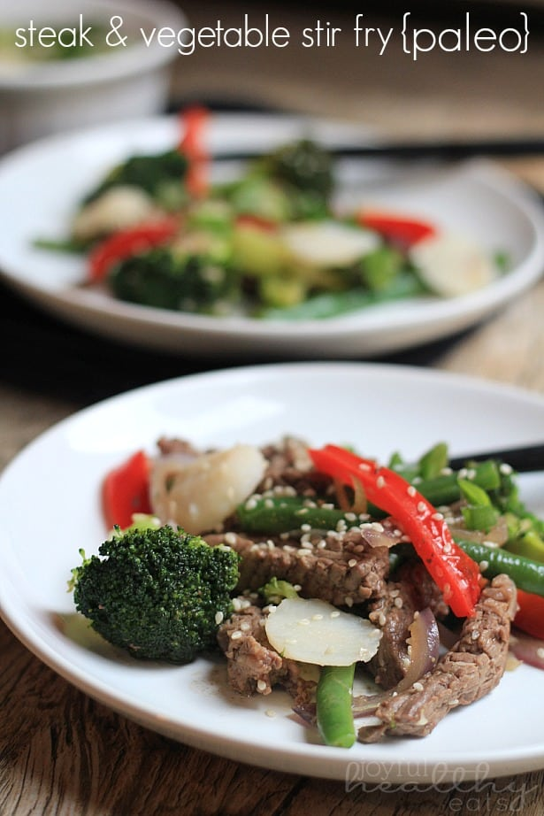 Steak and Vegetable Stir fry #Paleo #cleaneating #steak #vegetables #asianfood